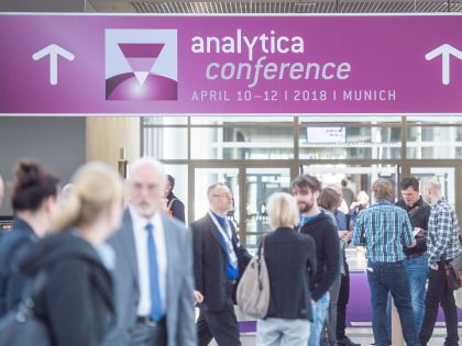 The analytica conference takes place from April 10th to 12th 2018