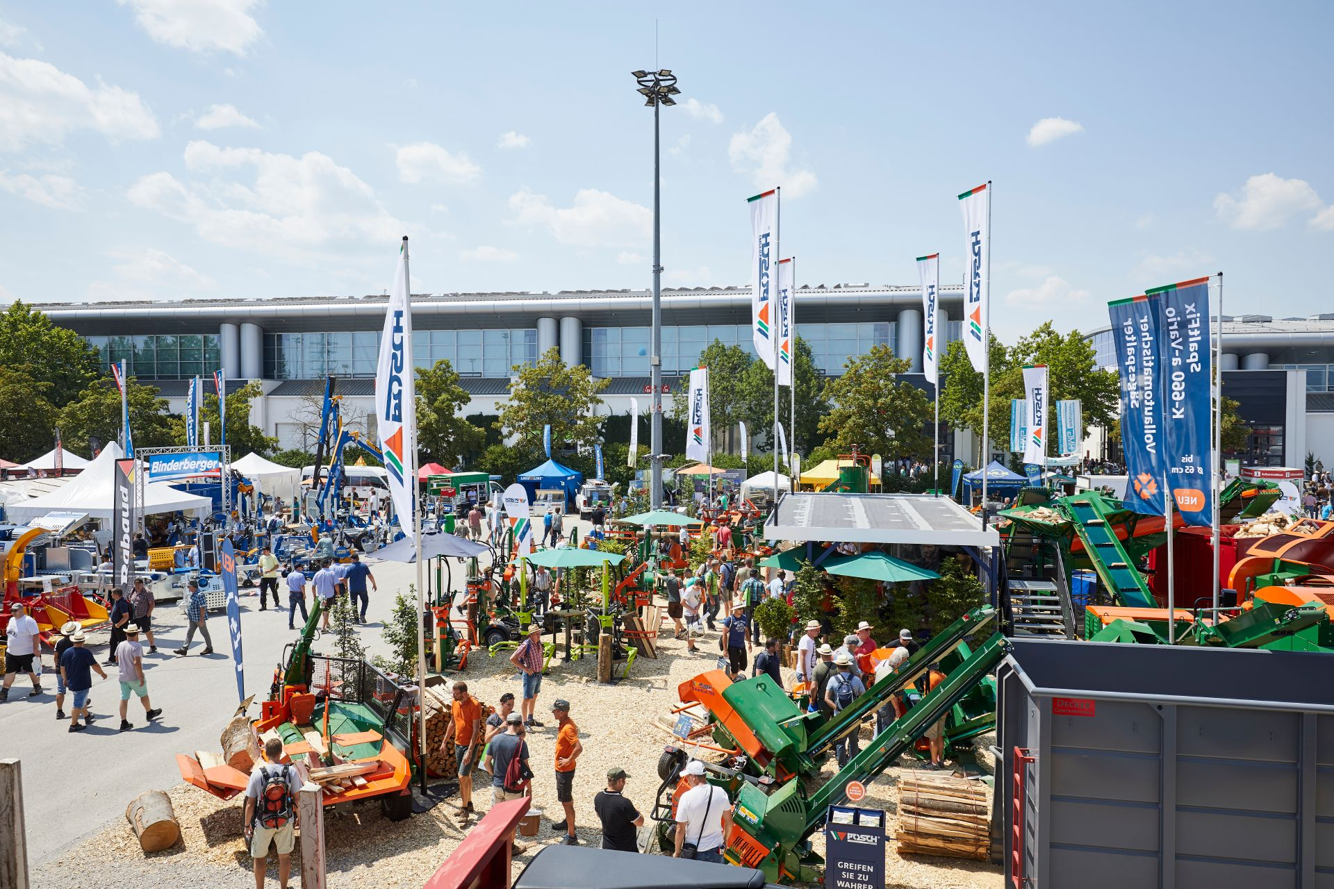 The Interforst outdoor exhibition site