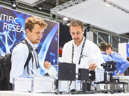 Besucher auf der LASER World of PHOTONICS