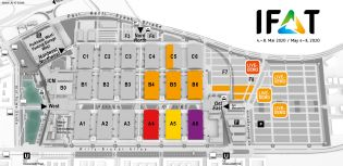 IFAT trade fair venue map, Waste management and recycling