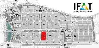 IFAT trade fair venue map, Air pollution control, flue-gas scrubbing and air extraction