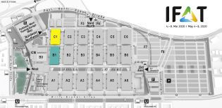 IFAT trade fair venue map, key sector Mechanical engineering and plant engineering in water management
