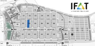 IFAT trade fair venue map, Services in the fields of water