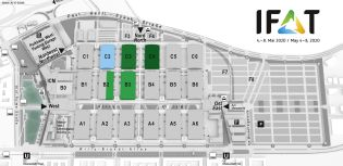 IFAT trade fair venue map, Water and sewerage networks