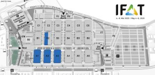 IFAT trade fair venue map, Hydraulic engineering and well construction