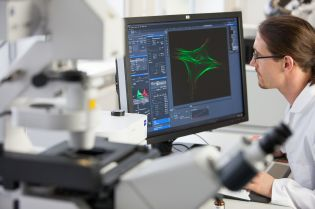 Laser technology and precision drives enable live cell imaging