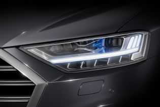 Laser high beam in the new Audi A8