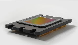 Curved CMOS-Sensor with fish eye function