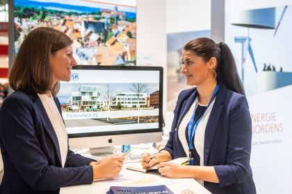Meet & Work Lounge der EXPO REAL Immobilien Messe
