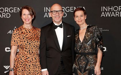 INHORGENTA AWARD 2020 - Klaus Dittrich with wife Margit and Anja Heiden
