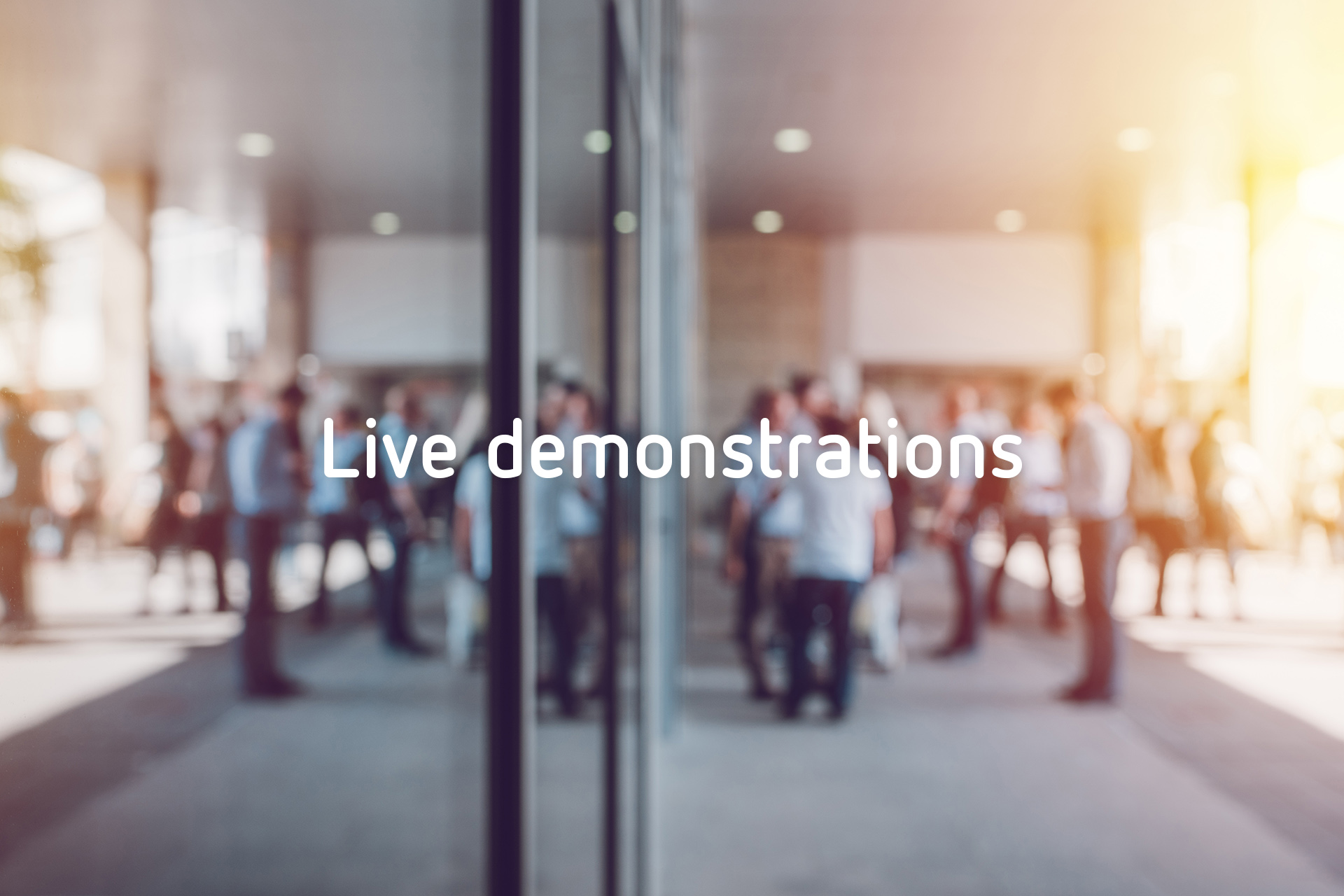 Live demonstrations header