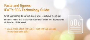 IFAT infographic SDG Technology Guide and SDG Lounge