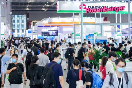 Visitors at electronica China 2020