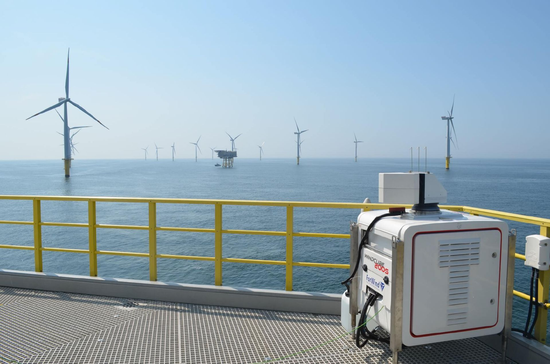 LiDAR-Windmessung in einem Offshore-Windfeld
