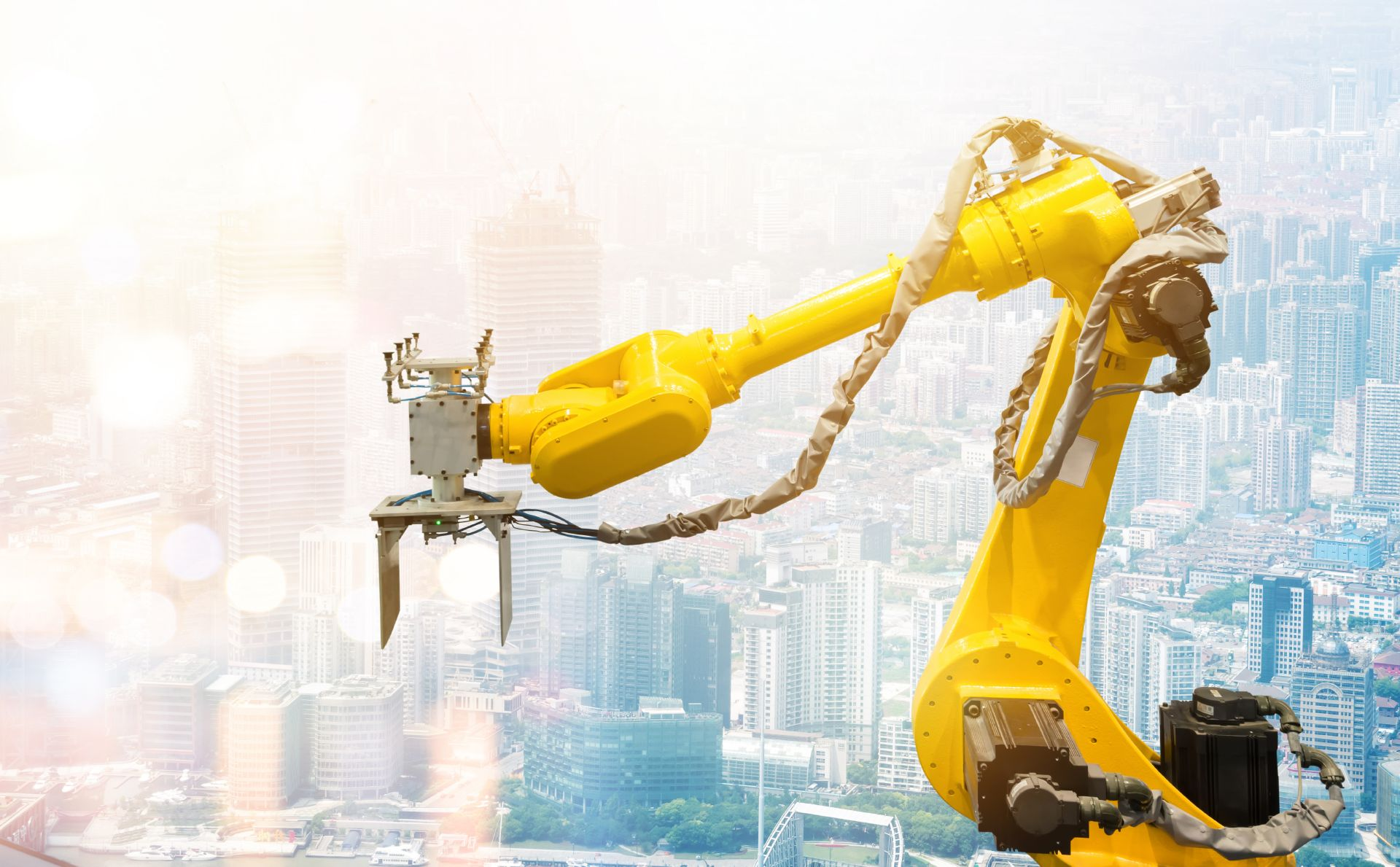 Robotic arm machine for heavy automation in smart industry
