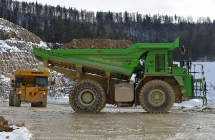 The eDumper dump truck is considered the largest e-battery vehicle in the world