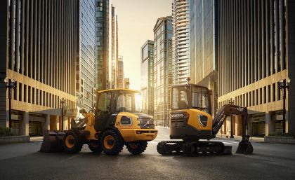The L25 Electric wheel loader and the ECR25 Electric short-tail swing excavator from Volvo.
