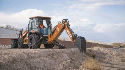 The world's first all-electric backhoe loader from CASE Construction Equipment.
